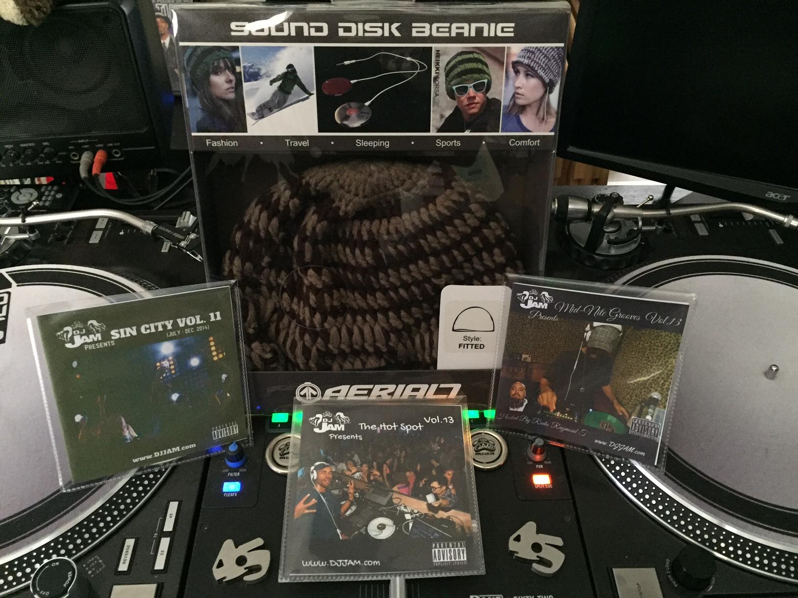 Aerial 7 Headphone/Beanie & DJ Jam mix CD pack Holiday giveaway #2