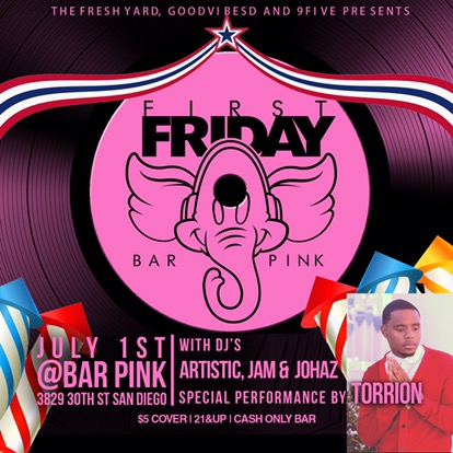 1st Friday's | Bar Pink | Dj Jam| July 1st 2016