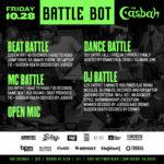 Friday October 28th Battle Bot at the Casbah. Beat Battle, DJ Battle, MC Battle, B-Boy Dance Battle, Open Mic!!! Who has what it takes$$$??? #BATTLEBOT #DJBATTLE #BEATBATTLE #MCBATTLE #DANCEBATTLE #RELOOP #ODYSSEYCASES #CASBAHSANDIEGO