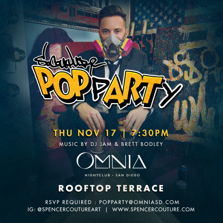 Thursday Nov. 17th at @OmniaSanDiego / Pop Art Party on the Rooftop Terrace