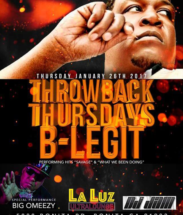 "B-Legit at La Luz for ""Throwback Thursdays"""
