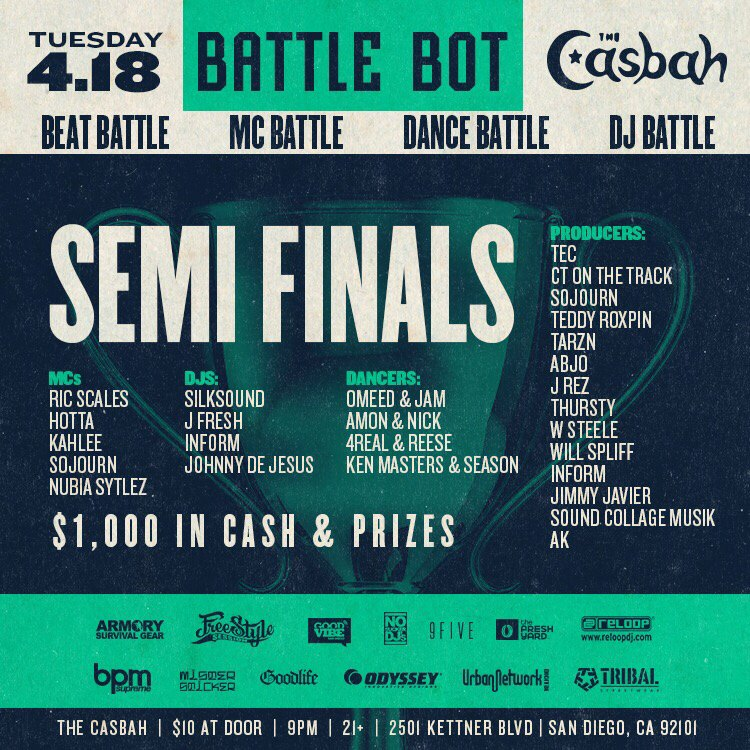 Battle Bot at the Casbah | Semi-Finals| 4/18/2017